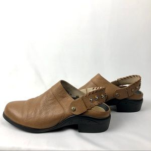 Ariat Leather Slingback Mules 6.5 Beaded Strap